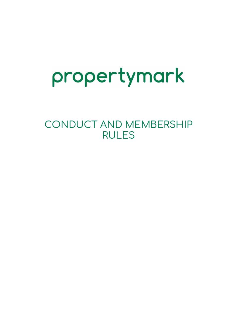 The Propertymark Conduct And Memberdship Rules thumbnail